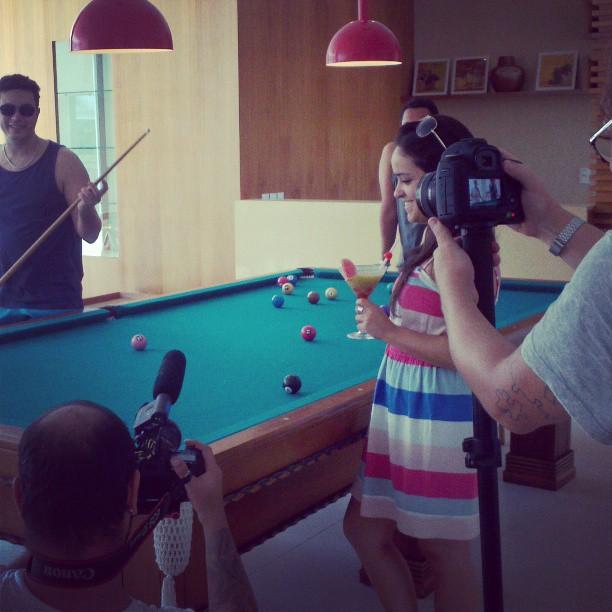 Gravação do vídeo no Beach Park Wellness Resort