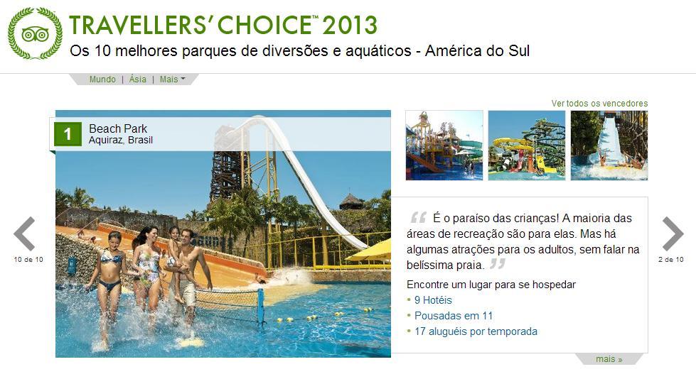 Beach Park foi escolhido o melhor parque de diversões da América do Sul.