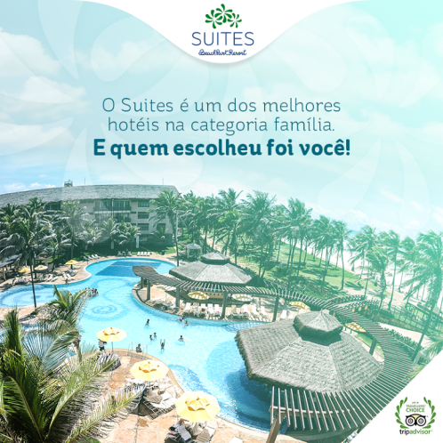 Suites Beach Park Resort granha prêmio no Trip Advisor