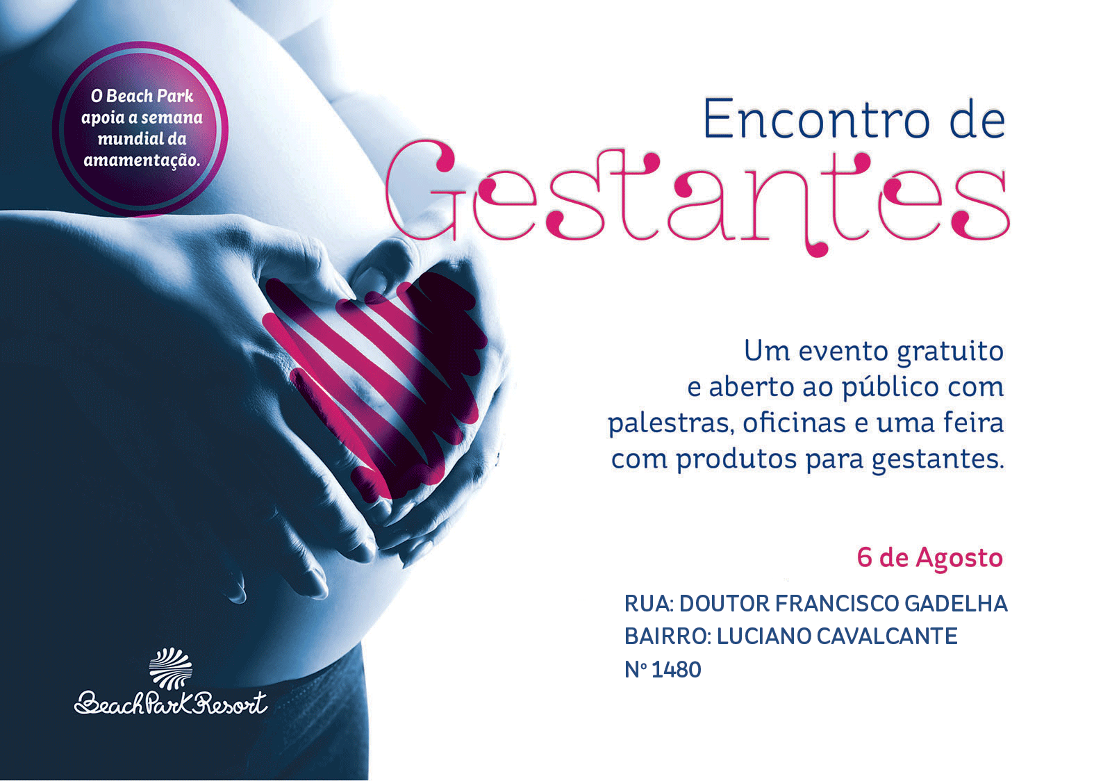 Mamães, participem do Encontro de Gestantes do Beach Park!