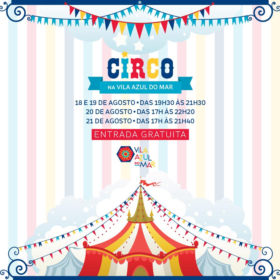 Festival de Circo na Vila Azul do Mar