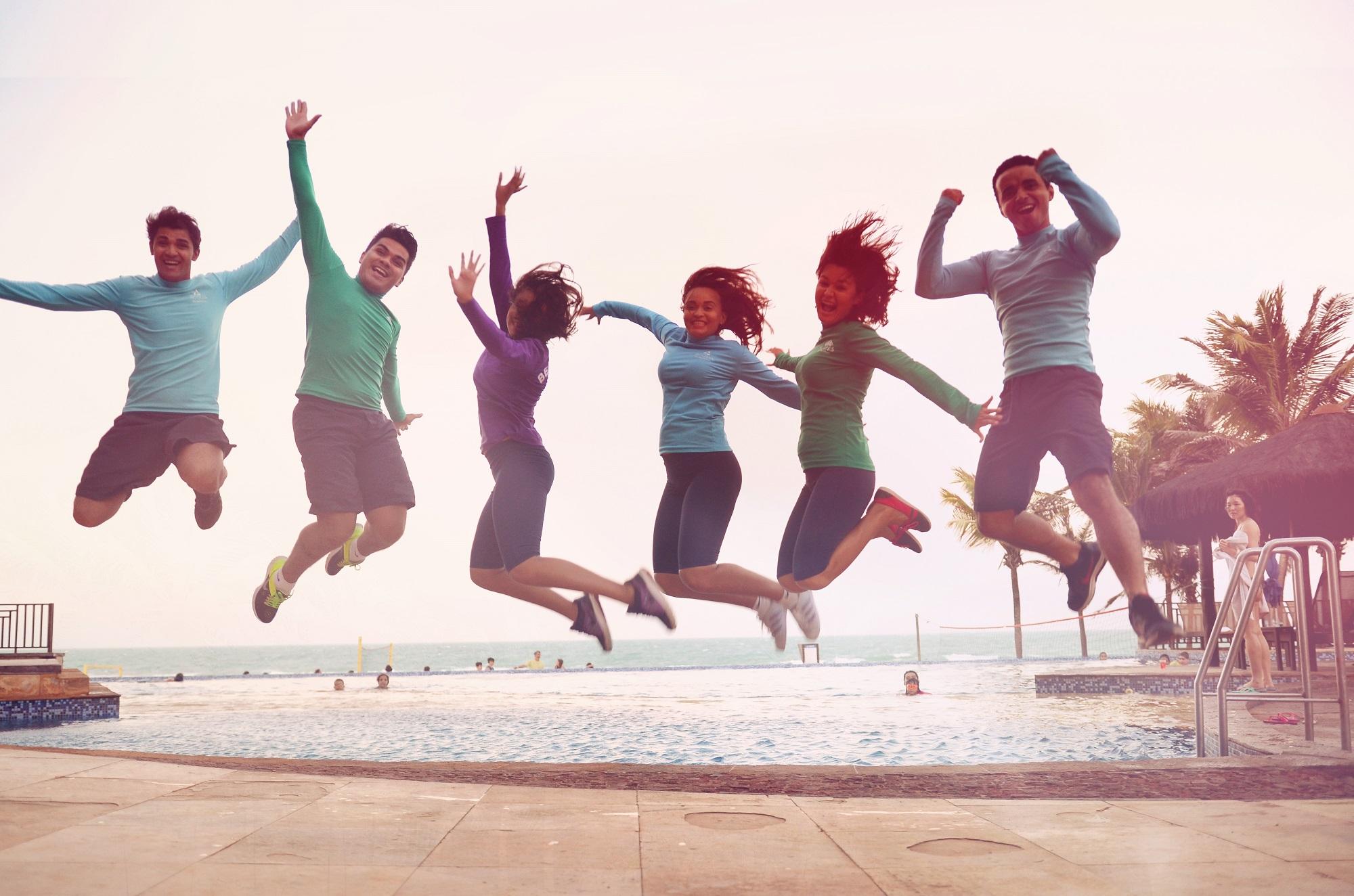Beach Friends fazendo a alegria