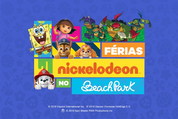 Férias Nickelodeon no Beach Park: Programação no Aqua Park e Resorts
