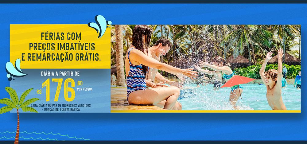 Beach Park: férias com preços imbatíveis e remarcação grátis