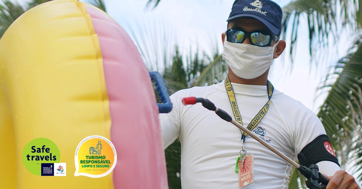 Protocolos de segurança contra a Covid 19 | Conheça as medidas do Beach Park