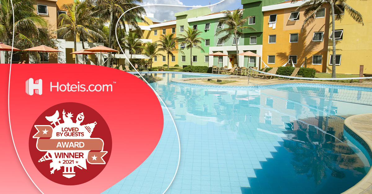 Prêmio Loved By Guests | Oceani Beach Park Hotel recebe o reconhecimento da Hoteis.com